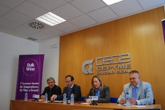 Presentación de la World Bulk Wine Exhibition en Ciudad Real. Sede de la CEOE CEPYME