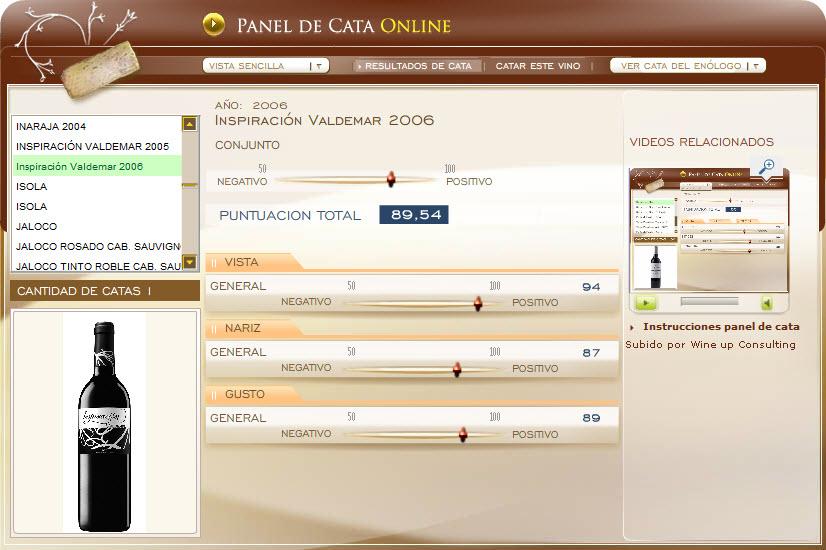 Cata en www.ecatas.com del vino INSPIRACION VALDEMAR 2006