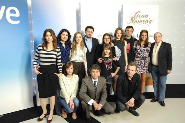 fotografía del equipo de actores