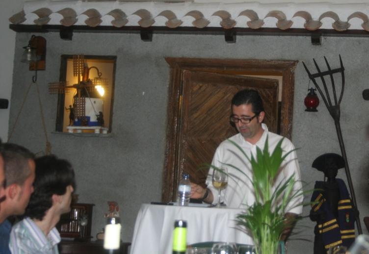 Joaquín Parra en una de las exposiciones