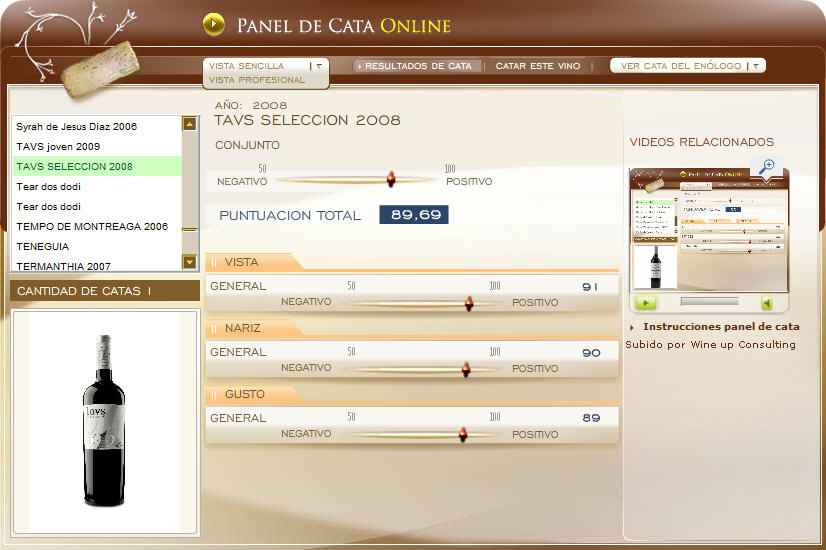 panel de cata tavs seleccion 2008