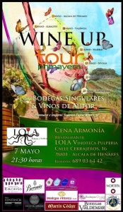 Cartel de cata en Lola Vinoteca
