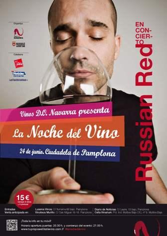 cartel Noche del Vino