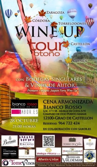 El proximo 28, el Wine Up Tour llega a Castellón