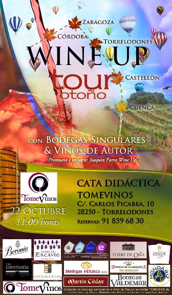 Wine Up Tour con Bodegas Singulares &amp; Vinos de Autor