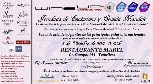 Jornada de enoturismo y maridaje en Tomelloso a cargo de Joaquín Parra
