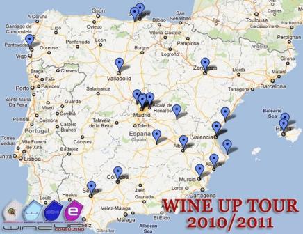 ciudades donde ha llegado el Wine Up Tour