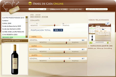 DECIDIDO 2008 - 88.15 PUNTOS EN WWW.ECATAS.COM POR JOAQUIN PARRA WINE UP