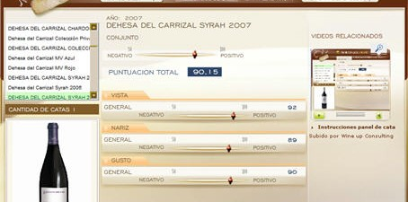 DEHESA DEL CARRIZAL SYRAH 2007 - 90.15 PUNTOS EN WWW.ECATAS.COM POR JOAQUIN PARRA WINE UP