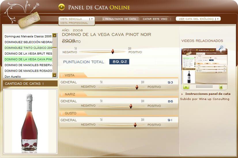 DOMINIO DE LA VEGA BRUT NATURE GRAN RESERVA PINOT NOIR 2008 - 89.92 PUNTOS EN WWW.ECATAS.COM POR JOAQUIN PARRA WINE UP