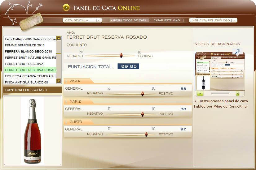 FERRET BRUT RESERVA ROSADO, 89.85 PUNTOS EN WWW.ECATAS.COM POR JOAQUIN PARRA