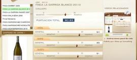FINCA LA GARRIGA BLANCO 2010, 90.85 PUNTOS EN WWW.ECATAS.COM POR JOAQUIN PARRA WINE UP