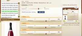 JANE VENTURA ROSÉ RESERVA DE LA MUSICA 2009 - 88.69 PUNTOS EN WWW.ECATAS.COM POR JOAQUIN PARRA WINE UP