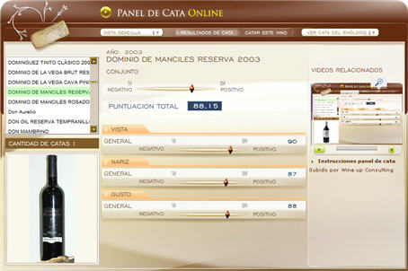 DOMINIO DE MANCILES RESERVA 2003 - 88.15 PUNTOS EN WWW.ECATAS.COM POR JOAQUIN PARRA WINE UP