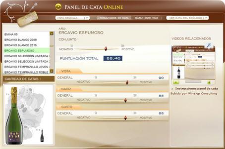ERCAVIO ESPUMOSO, 88.46 PUNTOS EN WWW.ECATAS.COM POR JOAQUIN PARRA WINE UP