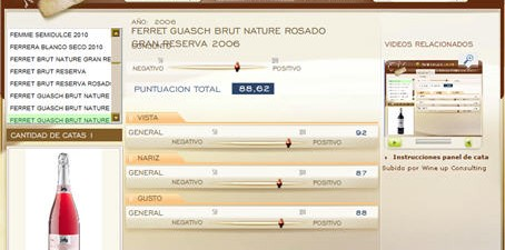 FERRET GUASCH BRUT NATURE ROSADO GRAN RESERVA 2006 - 88.62 PUNTOS EN WWW.ECATAS.COM POR JOAQUIN PARRA WINE UP