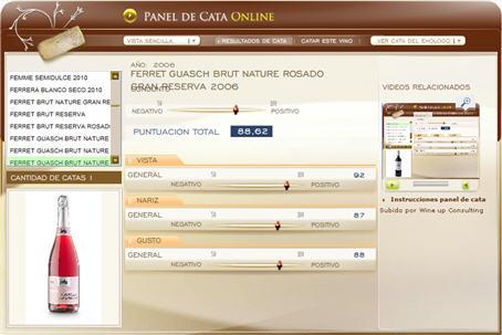 FERRET GUASCH BRUT NATURE ROSADO GRAN RESERVA 2006 - 88.62 PUNTOS EN WWW.ECATAS.COM POR JOAQUIN PARRA WINE UP