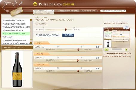 VENUS LA UNIVERSAL 2007 - 92.69 PUNTOS EN WWW.ECATAS.COM POR JOAQUIN PARRA WINE UP