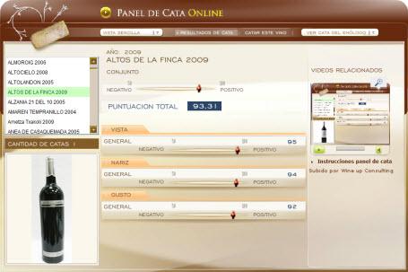 ALTOS DE LA FINCA 2009 - 93.31 PUNTOS EN WWW.ECATAS.COM POR JOAQUIN PARRA WINE UP