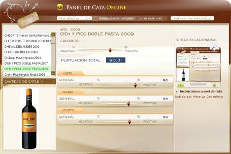 CIEN Y PICO DOBLE PASTA 2009 - 90.31 PUNTOS EN WWW.ECATAS.COM POR JOAQUIN PARRA WINE UP