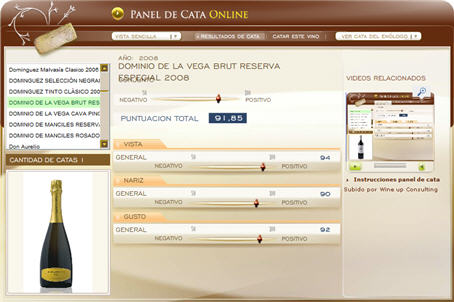 DOMINIO DE LA VEGA BRUT RESERVA ESPECIAL 2008 - 91.85 PUNTOS EN WWW.ECATAS.COM POR JOAQUIN PARRA WINE UP