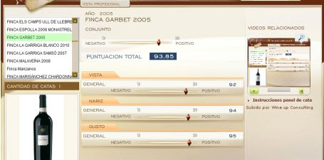 FINCA GARBET 2005 - 93.85 PUNTOS EN WWW.ECATAS.COM POR JOAQUIN PARRA WINE UP