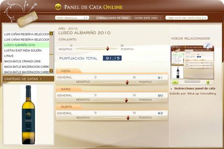 LUSCO ALBARIÑO 2010 - 91.15 PUNTOS EN WWW.ECATAS.COM POR JOAQUIN PARRA WINE UP