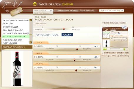 PACO GARCIA CRIANZA 2008 - 90.54 PUNTOS EN WWW.ECATAS.COM POR JOAQUIN PARRA WINE UP
