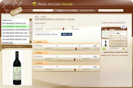 MATARROMERA CRIANZA 2008 - 90.15 PUNTOS EN WWW.ECATAS.COM POR JOAQUIN PARRA WINE UP