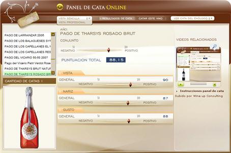 PAGO DE THARSYS ROSADO BRUT 88.15 PUNTOS EN WWW.ECATAS.COM POR JOAQUIN PARRA WINE UP