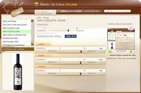 VIÑA COQUETA 2009 - 92.23 PUNTOS EN WWW.ECATAS.COM POR JOAQUIN PARRA WINE UP