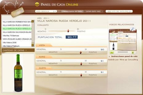 VILLA NACRISA RUEDA VERDEJO 2011 - 90.77 PUNTOS EN WWW.ECATAS.COM POR JOAQUIN PARRA WINE UP
