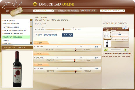 CUESTAROA ROBLE 2008 88.38 PUNTOS EN WWW.ECATAS.COM POR JOAQUIN PARRA WINE UP