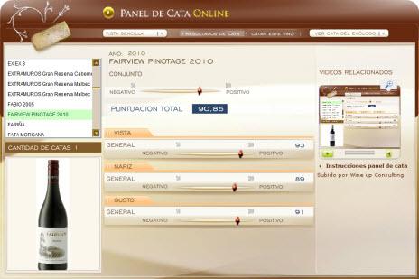 FAIRVIEW PINOTAGE 2010 - 90.85 PUNTOS EN WWW.ECATAS.COM POR JOAQUIN PARRA WINE UP