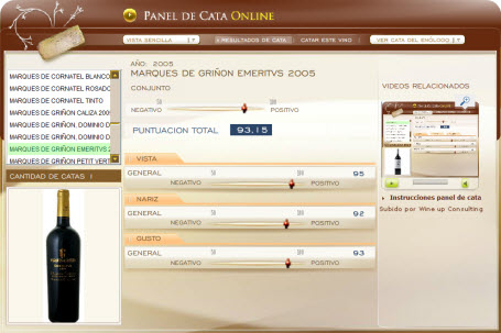 MARQUES DE GRIÑON EMERITUS 2005 - 93.15 PUNTOS EN WWW.ECATAS.COM POR JOAQUIN PARRA WINE UP