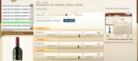 MARQUES DE GRIÑON SYRAH 2006 - 91.92 PUNTOS EN WWW.ECATAS.COM POR JOAQUIN PARRA WINE UP