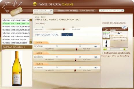 VIÑAS DEL VERO CHARDONNAY 2011 - 90 PUNTOS EN WWW.ECATAS.COM POR JOAQUIN PARRA WINE UP