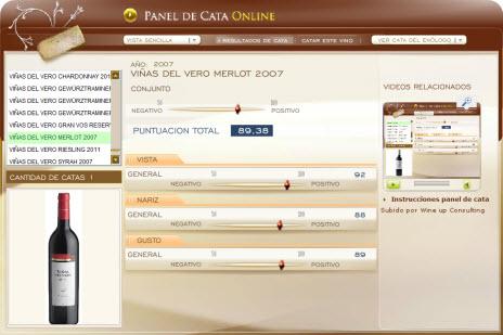VIÑAS DEL VERO MERLOT 2007 - 89.38 PUNTOS EN WWW.ECATAS.COM POR JOAQUIN PARRA WINE UP