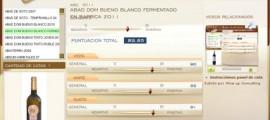 ABAD DOM BUENO BLANCO FERMENTADO EN BARRICA - 89.85 PUNTOS EN WWW.ECATAS.COM POR JOAQUIN PARRA WINE UP