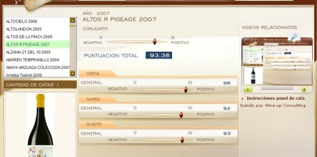 ALTOS R PIGEAGE 2007 - 93.38 PUNTOS EN WWW.ECATAS.COM POR JOAQUIN PARRA WINE UP