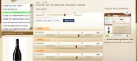 CONDE DE VALDEMAR CRIANZA 2008 - 89.62 PUNTOS EN WWW.ECATAS.COM POR JOAQUIN PARRA WINE UP