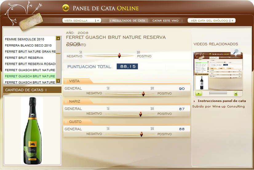 FERRET GUASCH BRUT NATURE RESERVA 2008 - 88.15 PUNTOS EN WWW.ECATAS.COM POR JOAQUIN PARRA WINE UP