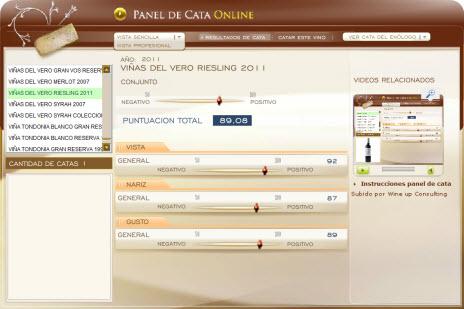 VIÑAS DEL VERO RIESLING 2011 - 89.08 PUNTOS EN WWW.ECATAS.COM POR JOAQUIN PARRA WINE UP