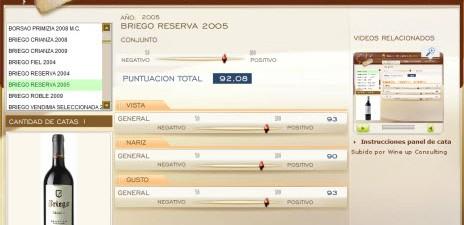 BRIEGO RESERVA 2005 - 92.08 PUNTOS EN WWW.ECATAS.COM POR JOAQUIN PARRA WINE UP