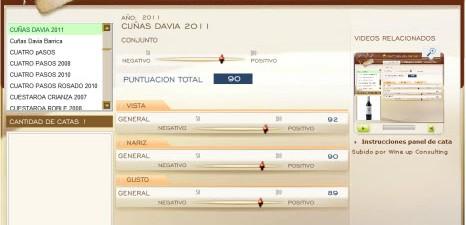 CUÑAS DAVIA 2011 - 90 PUNTOS EN WWW.ECATAS.COM POR JOAQUIN PARRA WINE UP