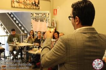 Joaquín Parra, en una cata del Wine UP Tour