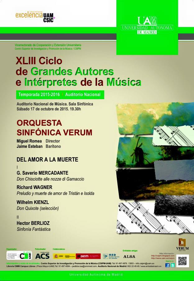 cartel concierto en auditorio nacional